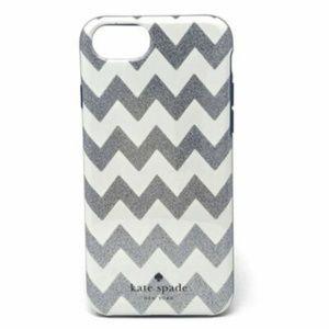 NEW Kate Spade Silver Glitter Chevron Phone Case